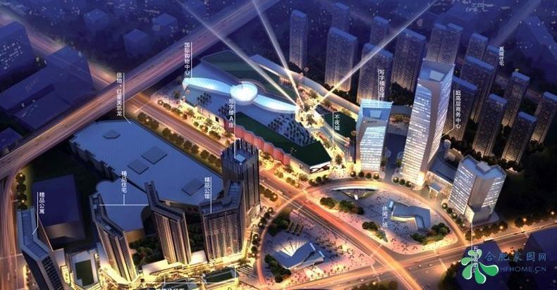 信地城市广场夜景鸟瞰图