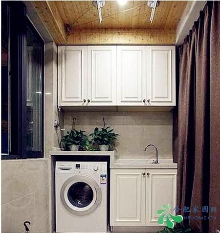 阳台洗衣房设计四 现代简约 120平米三居室装修设计