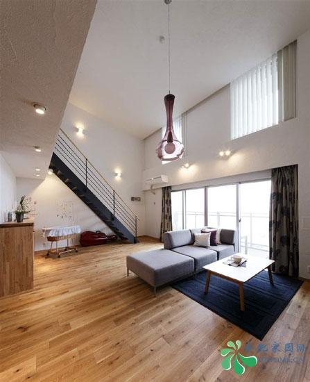 日本复式装修效果图复式楼客厅楼梯效果图图片9