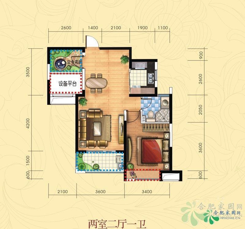 60平方长方形房子设计图展示