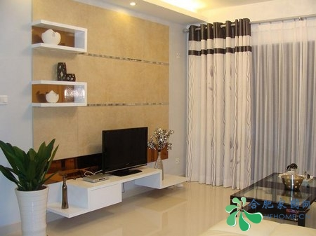 黑白灰简约装修效果图:客厅全景-黑白灰简约装修 七万装修88平实用家高清图片