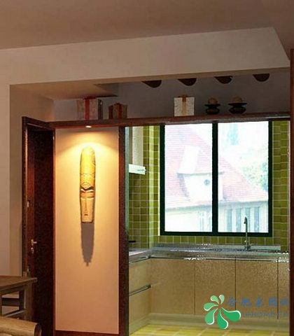 中式厨房墙砖效果图 中式厨房墙砖贴图 现代中式厨房墙砖