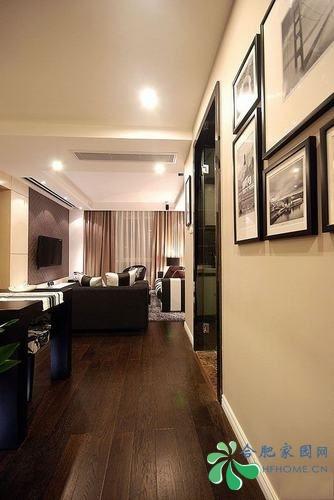 经典黑白灰装修效果图 8万装修90㎡现代简约美宅